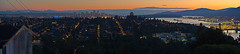 Vancouver At Dusk (Panorama) (Jonathan F.V.) Tags: city sunset panorama canada vancouver port lights downtown bc dusk britishcolumbia hill capitol burnaby vancity iamcanadian beautifulbc hellobc