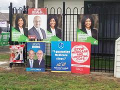 Labor, Liberal & Greens posters - Polling day in Fawkner #Wills2016 #Ausvotes (John Englart (Takver)) Tags: election australia melbourne wills fawkner ausvotes ausvotes2016 wills2016
