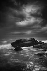 Lost in the Moment (Luis Figuer) Tags: seascapelongexposure blackwhite dramatic costarica costaricaphotography guanacaste nosara playapelada largaexposicion