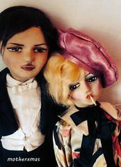 blossom and etta smoker boudoir dolls (motherxmas2003) Tags: man bed doll boudoir smoker