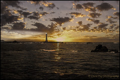 Light on the Rock (chrisfay55) Tags: bishopsrocklighthouse islesofscilly sunset sea seascape ocean cornwall uk england