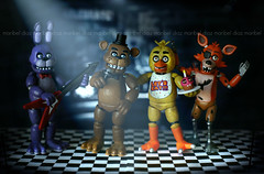Five Nights At Freddy's ~ (voo_doolady) Tags: toy foxy chica cupcake bonnie freddy figures funko toyphotography fnaf fivenightsatfreddys