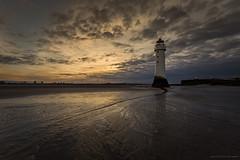 New Brighton (MarkWaidson) Tags: sky lighthouse rock clouds docks sunrise fort perch newbrighton