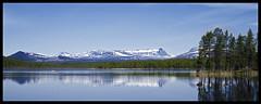 Mountains of Jamtland (Arnaud Huc) Tags: europe sweden lake mountains montagne ostersund jamtland arnaudhuc lac blue ciel sky bleu d5100 1685