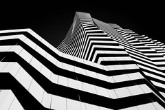 ...skyzebra... (ines_maria) Tags: architcture geometry blackandwhite leopoldtower vienna skyscraper pov urban black sky
