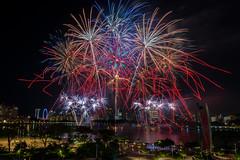 NDP 2016 Rehearsal Fireworks (BP Chua) Tags: city night canon landscape singapore colours fireworks wideangle firework ndp sportshub ndp2016
