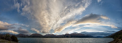 The land of the long white cloud (Pat Charles) Tags: newzealand nz southisland lake wakatipu sunset clouds panorama panoramic pano wideangle water nikon south southern alps mountains hills landscape 1001nights 1001nightsmagiccity