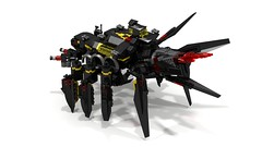 Artillery Crawler Deployed (RedRoofArt) Tags: lego moc ldd blacktron creature walker