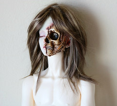 Popo Doll Ramiel (ok2la) Tags: white ball skull scary doll skin goth ripped wig torn bjd neverland scar joint grotesque kana jpop gruesome scarred popo gory ws ramiel img0249 jpopdolls popodoll
