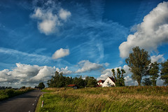 Sky with clouds @ Waverveen (PaulHoo) Tags: waverveen holland netherlands landscape clouds sky evening nature grass 2016 nik hdr nikon d700 wideangle ilobsterit