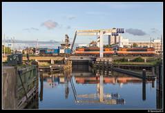 LC 1505 + 9901 + 9905 - Deltabrug Vlaardingen (Spoorpunt.nl) Tags: haven water 5 1600 juli brug oude 9900 vlaardingen vopak zans 9905 bediening 9901 2016 1505 vtg locon buitensluis deltabrug ketelwagens g1206 delflandse