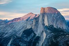 Half Dome Alpen Glow (jeff_a_goldberg) Tags: california summer us unitedstates nps unescoworldheritagesite unesco yosemite halfdome yosemitenationalpark nationalparkservice glacierpoint alpenglow