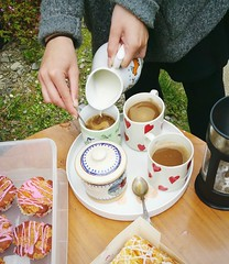 ... Coffee ceremony in a Garden ... Cold Summer Milk Cups Tray Bisquits Get Together Summer Wales Drinking Tea Time      Hands Food (Almena14) Tags: summer food coffee wales garden milk hands drinking cups tray teatime gettogether bisquits     coldsummer