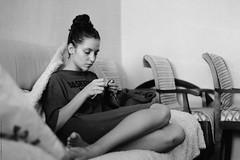 Tanya (Anton Zabermach) Tags: portrait blackandwhite bw film analog 35mm nikkor ilford fp4 nikonfe2 selfdeveloped microphen 50mmf18ai