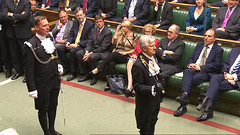 Black Rod in the Commons chamber (UK Parliament) Tags: london westminster housesofparliament parliament queen monarch houseoflords houseofcommons legislation stateopening queensspeech