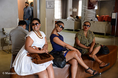 Glamorous ladies at our hotel in Cape Town