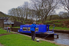 Water Taxi (Saturated Imagery) Tags: boat canal yorkshire tunnel dslr narrowboat huddersfield marsden colnevalley huddersfieldnarrowcanal standedgetunnel sigma1020mmf35 canoneos60d photoshopelements9