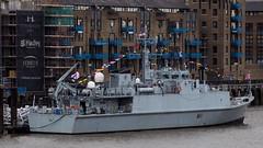 HMS Blyth M111, St. Katherine Dock, London (IFM Photographic) Tags: london canon 70300mm tamron minesweeper rn royalnavy towerhamlets tamron70300mm 600d seniorservice stkatherinedock battleoftheatla