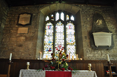 Pentecost at St Michael's (littlestschnauzer) Tags: flowers flower building church window glass st parish festival century 1 nikon interior may grade days stained altar celebration theme restoration inside 14th 50 michaels listed pentecost emley 2013 d5000 elementsorganizer11