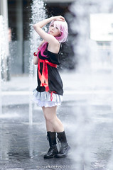 Inori - Guilty Crown (YurikoTiger.com) Tags: pink hot anime cute love beautiful japan hair japanese tokyo cool model italian perfect cosplay tiger manga wig idol kawaii crown akihabara cosplayer otaku yuriko guilty    supercell yuzuriha fumettopoli   inori  cosmode  nicecosplay yurikotiger   korewacosplay yurikotigercom