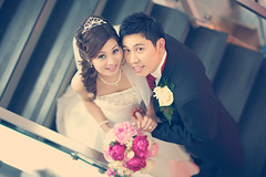 Lovely Couple  Jimmy Cheng (Mighty Bright Light) Tags: wedding portrait flower smile modern digital canon bride raw sweet chinese documentary l bouquet weddingday journalism redumbrella chinesewedding chinapalace weddingphotographer 2011 appleaperture llens chinesetradition blueprintphotography canonef85mmf12liiusm londonexcel simonliu weddingjournalism canoneos5dmarkii londonphotographer jimmycheng hongkongphotographer londonweddingphotography wwwblueprintmeuk blueprintweddingportraitjournalism facebookcomblueprintphotography 12thjune2011 lynnsimonwedding lynnlac