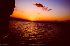 Sunset in Mexico (cMacSutt) Tags: ocean cruise water mexico mac ship yacht atlantic craig cancun mx cmacsutt wwwcmacsuttcom