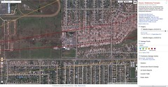 Oklahoma Tornado's Trail Of Destruction - Google Crisis Map (Jorge S. King) Tags: naturaleza google noticias googleearth estadosunidos clima tecnologa publicacin sucesos