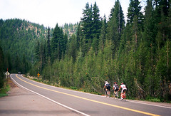 Cascade Byway (andybokanev) Tags: road mountain film oregon analog cycling climb bend pavement cascades suffer canonat1 ektar100