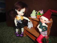 Emily JJ and Reggie (DollGuardian) Tags: yellow sophie popo lati realpuki