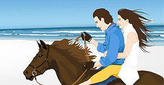 Download free couple vector (Freevectorzone) Tags: blue girls sea vacation horse woman man male love beach water beautiful beauty smile lady female hair fun happy person togetherness pretty ride outdoor feminine character joy young romance lovers riding human together romantic lovely peoplevector horsevector animalvectors