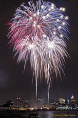 4th of July Fireworks (Photosequence) Tags: newyork reflection skyline fireworks manhattan 4th july midtown macys empirestate hudson gotham hoboken