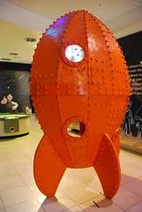 Gromit Unleashed - Rocket (Sa//y) Tags: art shop bristol exhibition rocket spaceship sculptures gromit themall fibreglass cribbscauseway aardmananimations wallaceandgromitsgrandappeal gromitunleashed bristolchildrenshospitalcharity
