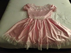 Option 2 front (shellyanatine) Tags: pink dress crossdressing sissy frilly