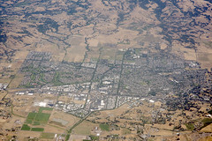 Aerial view of Rohnert Park, Sonoma County, California (cocoi_m) Tags: california sonomacounty highway101 aerialphotograph rohnertpark