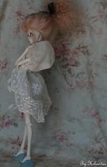AntiK FabriKs by Heliantas: OOAK custom commission for Elodie (heliantas) Tags: doll dress handmade ooak mohair bjd kane blush faceup nefer nexeven