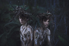 Love Grown Old (Rob Woodcox) Tags: portrait love beauty forest couple paint branches makeup surreal lovers kings ferns conceptual bold robwoodcox robwoodcoxphotography alexstoddard brianoldham