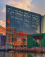 Golden hour reflections, National Aquarium, Baltimore Maryland (PhotosToArtByMike) Tags: city reflections md downtown cityscape maryland baltimore innerharbor nationalaquarium downtownbaltimore
