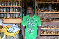 Charles Owenga in his shop (nextcityorg) Tags: poverty travel kenya nairobi cities urbanism slums developingworld informalsector globalpoverty informaleconomy informality slumdwellers forumforthefuture rockefellerfoundation informalsettlements nextcity inclusivecities informalcitydialogues nextcityorginformalcity