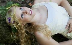 Persephone (Rachel.Adams) Tags: trees portrait forest greek photography pretty goddess story fantasy blonde legend goddesses persephone myth greekgod greekmyth goddessofharvest demeterandpersephone persephoneanddemeter
