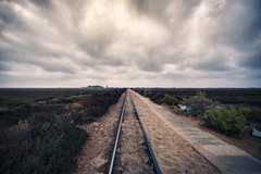 oasis (Antnio Alfarroba) Tags: portugal train dawn santaluzia algarve riaformosa madrugada barril comboio antnioalfarroba