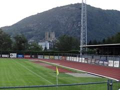 Stade du Courbet, Foix (fchmksfkcb) Tags: paris france foot star football frankreich soccer fc pyrenees redstar foix fusball luzenac groundhopping parisred footballfrancaise stadecourbet stadefoix usfoix luzenacap luzenacariegepyrenees stadepaulfedou