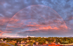 Last Day Of Summer Sunset Rainbow - Roanoke Virginia (Terry Aldhizer) Tags: summer sky panorama reflection rain clouds last virginia day solstice roanoke terry hdr aldhizer terryaldhizer terryaldhizercom