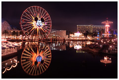 Paradise Pier at Disney California Adventure. (Ian D. Boyd) Tags: world show california color colour reflection wheel lights pier paradise ferris disney adventure