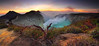 IDJEN CRATER in POANORAMIC VIEW (ManButur PHOTOGRAPHY) Tags: travel sunset sky mountain clouds canon volcano colorful exposure smoke explorer explore highland crater 7d sulfur miner tracking mountainscape ijen canon7d idjen manbutur manbuturphotography