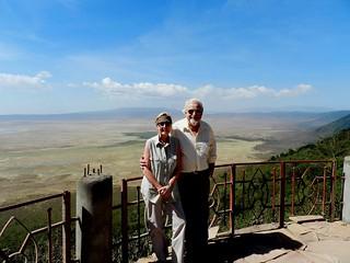 Rosi & George at the Ngorongoro Crater