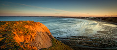 Coastal sunset (S.R.Murphy) Tags: sunset sea england seascape beach canon landscape coast rocks unitedkingdom yorkshire ngc panoramic cliffs 7d filey primrosevalley canon1022mmefs coastallandscape canon7d april2013
