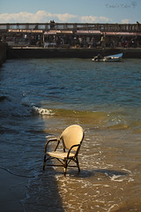 at sea (Tania's Tales) Tags: street city sea urban stilllife abandoned beach outside chair furniture empty streetphotography armchair exploration         fotografiastradale taniastales