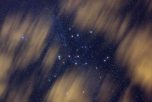 Weather Forecast: Partly Cloudy at Night - Starry cloudy sky