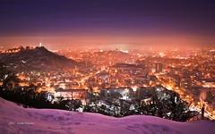 Plovdiv at night (StoianStoianov) Tags: city winter snow town bulgaria plovdiv