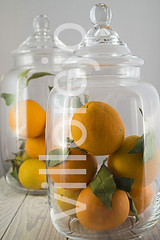 two jars of glass (Villorejo) Tags: wood food glass fruit table healthy packing decoration ornament jar oranges jars canning nutrition